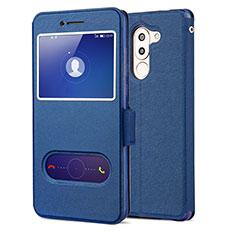 Handytasche Stand Schutzhülle Leder L02 für Huawei Honor 6X Blau