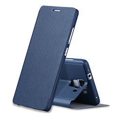 Handytasche Stand Schutzhülle Leder L02 für Huawei Honor 7 Dual SIM Blau