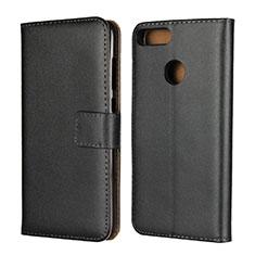 Handytasche Stand Schutzhülle Leder L02 für Huawei Honor 9 Lite Schwarz