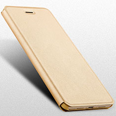 Handytasche Stand Schutzhülle Leder L02 für Huawei Honor V9 Play Gold