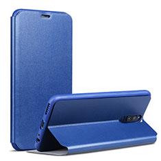Handytasche Stand Schutzhülle Leder L02 für Huawei Mate 10 Lite Blau