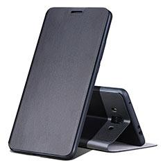 Handytasche Stand Schutzhülle Leder L02 für Huawei Mate 10 Schwarz