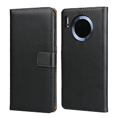 Handytasche Stand Schutzhülle Leder L02 für Huawei Mate 30 5G Schwarz