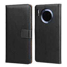 Handytasche Stand Schutzhülle Leder L02 für Huawei Mate 30 Schwarz