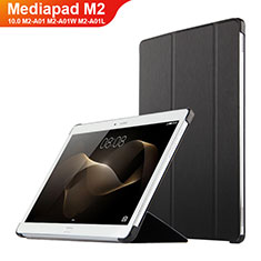 Handytasche Stand Schutzhülle Leder L02 für Huawei MediaPad M2 10.0 M2-A01 M2-A01W M2-A01L Schwarz