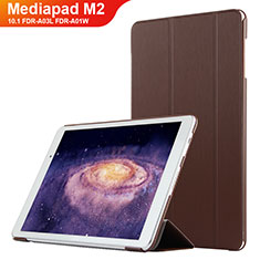 Handytasche Stand Schutzhülle Leder L02 für Huawei MediaPad M2 10.1 FDR-A03L FDR-A01W Braun