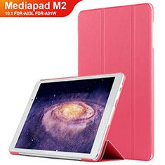 Handytasche Stand Schutzhülle Leder L02 für Huawei MediaPad M2 10.1 FDR-A03L FDR-A01W Rot