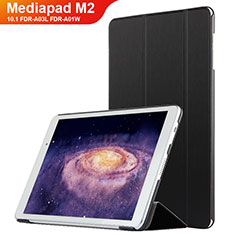 Handytasche Stand Schutzhülle Leder L02 für Huawei MediaPad M2 10.1 FDR-A03L FDR-A01W Schwarz