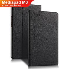 Handytasche Stand Schutzhülle Leder L02 für Huawei Mediapad M3 8.4 BTV-DL09 BTV-W09 Schwarz