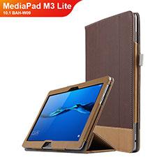 Handytasche Stand Schutzhülle Leder L02 für Huawei MediaPad M3 Lite 10.1 BAH-W09 Braun