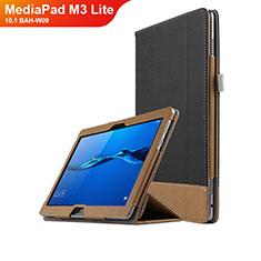 Handytasche Stand Schutzhülle Leder L02 für Huawei MediaPad M3 Lite 10.1 BAH-W09 Schwarz