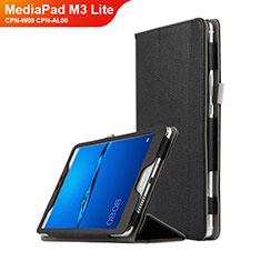 Handytasche Stand Schutzhülle Leder L02 für Huawei MediaPad M3 Lite 8.0 CPN-W09 CPN-AL00 Schwarz