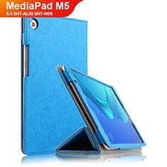 Handytasche Stand Schutzhülle Leder L02 für Huawei MediaPad M5 8.4 SHT-AL09 SHT-W09 Blau