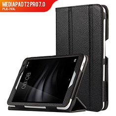 Handytasche Stand Schutzhülle Leder L02 für Huawei MediaPad T2 Pro 7.0 PLE-703L Schwarz
