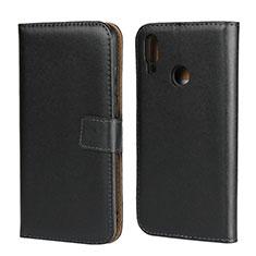 Handytasche Stand Schutzhülle Leder L02 für Huawei P Smart (2019) Schwarz