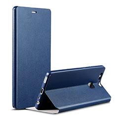 Handytasche Stand Schutzhülle Leder L02 für Huawei P9 Plus Blau