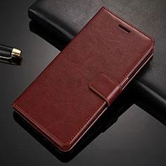 Handytasche Stand Schutzhülle Leder L02 für Nokia X6 Braun