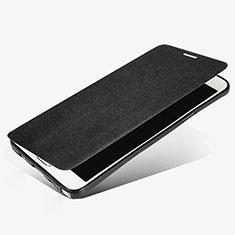 Handytasche Stand Schutzhülle Leder L02 für Samsung Galaxy Note 5 N9200 N920 N920F Schwarz