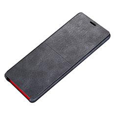 Handytasche Stand Schutzhülle Leder L02 für Samsung Galaxy Note 8 Schwarz