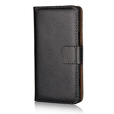 Handytasche Stand Schutzhülle Leder L02 für Sony Xperia XZ1 Compact Schwarz