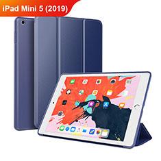 Handytasche Stand Schutzhülle Leder L03 für Apple iPad Mini 5 (2019) Blau