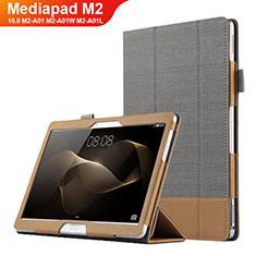 Handytasche Stand Schutzhülle Leder L03 für Huawei MediaPad M2 10.0 M2-A01 M2-A01W M2-A01L Grau