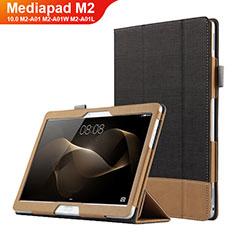 Handytasche Stand Schutzhülle Leder L03 für Huawei MediaPad M2 10.0 M2-A01 M2-A01W M2-A01L Schwarz