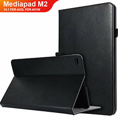 Handytasche Stand Schutzhülle Leder L03 für Huawei MediaPad M2 10.1 FDR-A03L FDR-A01W Schwarz