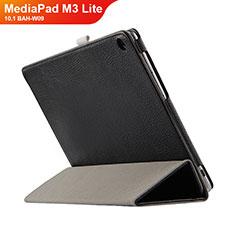 Handytasche Stand Schutzhülle Leder L03 für Huawei MediaPad M3 Lite 10.1 BAH-W09 Schwarz