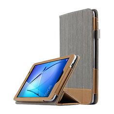 Handytasche Stand Schutzhülle Leder L03 für Huawei MediaPad T3 8.0 KOB-W09 KOB-L09 Grau