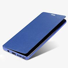 Handytasche Stand Schutzhülle Leder L03 für Samsung Galaxy Note 8 Blau