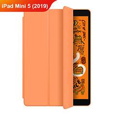 Handytasche Stand Schutzhülle Leder L04 für Apple iPad Mini 5 (2019) Orange