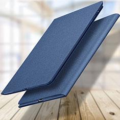 Handytasche Stand Schutzhülle Leder L04 für Apple New iPad 9.7 (2018) Blau