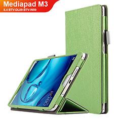 Handytasche Stand Schutzhülle Leder L04 für Huawei Mediapad M3 8.4 BTV-DL09 BTV-W09 Grün