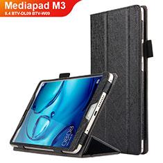 Handytasche Stand Schutzhülle Leder L04 für Huawei Mediapad M3 8.4 BTV-DL09 BTV-W09 Schwarz