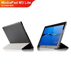 Handytasche Stand Schutzhülle Leder L04 für Huawei MediaPad M3 Lite 10.1 BAH-W09 Schwarz