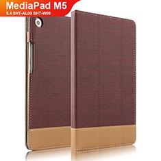Handytasche Stand Schutzhülle Leder L04 für Huawei MediaPad M5 8.4 SHT-AL09 SHT-W09 Braun