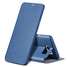 Handytasche Stand Schutzhülle Leder L04 für Samsung Galaxy Note 5 N9200 N920 N920F Blau