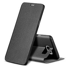 Handytasche Stand Schutzhülle Leder L04 für Samsung Galaxy Note 5 N9200 N920 N920F Schwarz
