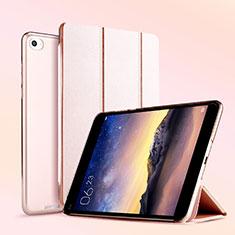Handytasche Stand Schutzhülle Leder L04 für Xiaomi Mi Pad 3 Rosegold