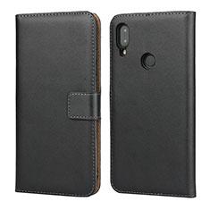 Handytasche Stand Schutzhülle Leder L04 für Xiaomi Redmi Note 7 Pro Schwarz
