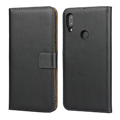 Handytasche Stand Schutzhülle Leder L04 für Xiaomi Redmi Note 7 Schwarz