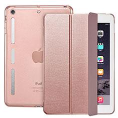 Handytasche Stand Schutzhülle Leder L05 für Apple iPad Mini 2 Rosegold