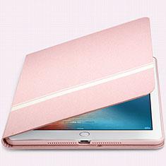 Handytasche Stand Schutzhülle Leder L05 für Apple New iPad 9.7 (2018) Rosa