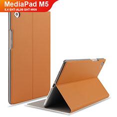 Handytasche Stand Schutzhülle Leder L05 für Huawei MediaPad M5 8.4 SHT-AL09 SHT-W09 Braun