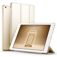 Handytasche Stand Schutzhülle Leder L06 für Apple iPad Mini 2 Gold