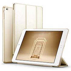 Handytasche Stand Schutzhülle Leder L06 für Apple iPad Mini 3 Gold
