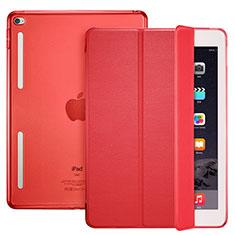 Handytasche Stand Schutzhülle Leder L06 für Apple iPad Mini 4 Rot