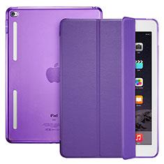 Handytasche Stand Schutzhülle Leder L06 für Apple iPad Mini 4 Violett