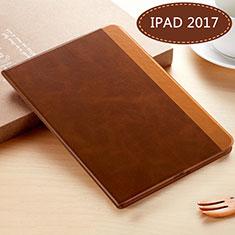 Handytasche Stand Schutzhülle Leder L06 für Apple New iPad 9.7 (2017) Braun